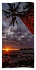 Sunset Palm Bath Towel