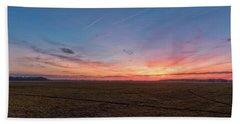 Bath Towel featuring the photograph Sunset Pastures by Russell Pugh