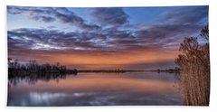 Bath Towel featuring the photograph Sunset Reflection by Russell Pugh