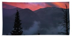 Sunset Storms Over The Rockies Bath Towel