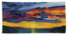 Sunset Streak Hand Towel