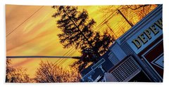 Sunset Streams Bath Towel