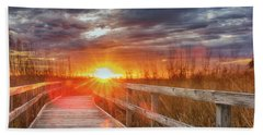 Bath Towel featuring the photograph Sunset Walk by Russell Pugh
