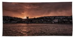 Sunset Harbour Hand Towel