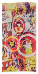 Super Hero Design Hand Towel