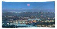 Super Moon Over Chattanooga Hand Towel