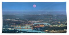 Super Moon Over Chattanooga Bath Towel