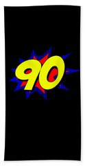Superhero 90 Years Old Birthday Bath Towel