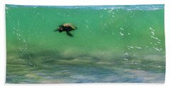 Surfing Turtle Hand Towel