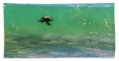 Surfing Turtle Hand Towel