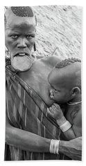Mursi Mother And Child Hand Towel