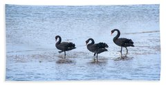 Swans On Parade Hand Towel