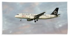 Swiss Star Alliance Livery Airbus A320-214 Bath Towel