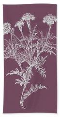Tagetes Patula Purple Flower Bath Towel