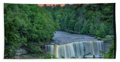 Tahquamenon Falls Sunset. Hand Towel