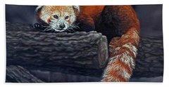 Takeo, The Red Panda Hand Towel