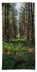 Tall Trees In Sherwood Forest Bath Towel