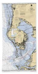 Tampa Bay And St. Joseph Sound Noaa Chart 11412 Hand Towel