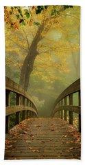 Tanawha Trail Blue Ridge Parkway - Foggy Autumn Hand Towel