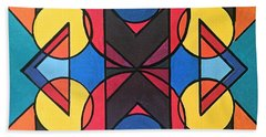 Bath Towel featuring the painting Tangram No. 9 Kaleidoscope by Samantha Galactica