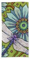 Tapestry Dragonfly Bath Towel
