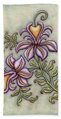 Tapestry Flower 8 Hand Towel