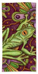 Tapestry Frog Hand Towel