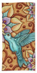Tapestry Hummingbird Bath Towel