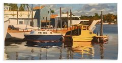 Tarpon Springs Harbour Bath Towel