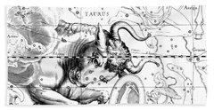 Taurus, Engraving From Celestial Atlas Firmamentum Sobiescianum Bath Towel