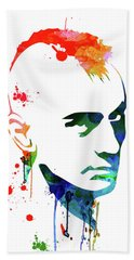 Taxi Driver Watercolor Bath Towel