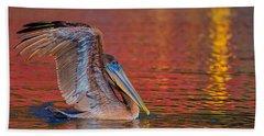 Tchefuncte Pelican Hand Towel