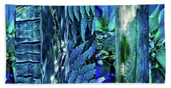 Teal Abstract Hand Towel