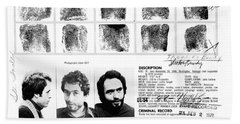 Ted Bundy - Wanted By The Fbi Bath Towel