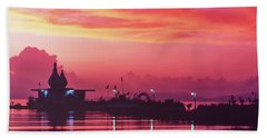 Temple On The Sea Hand Towel
