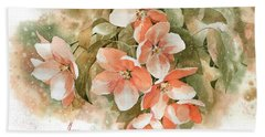 Tender Blossom Of Apple Tree Bath Towel