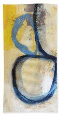 Tender Mercies Yellow- Abstract Art By Linda Woods Bath Towel