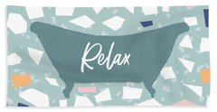 Terrazzo Bath Relax- Art By Linda Woods Hand Towel
