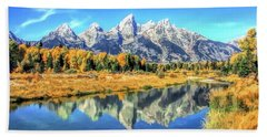 Grand Teton National Park Mountain Reflections Hand Towel