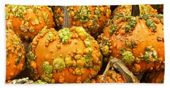Textured Pumpkins  Hand Towel