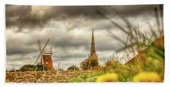 Thaxted Windmill And Church Hand Towel