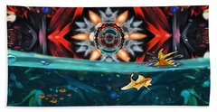 The Abstract Fish Tomb Bath Towel
