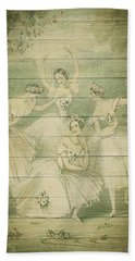 The Ballet Dancers Shabby Chic Vintage Style Portrait Bath Towel