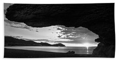 The Beach Of The Sculptures At Dawn In Almeria Hand Towel