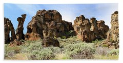 Arches Hoodoos And Castles The Big Picture Little City Of Rocks Hand Towel