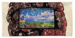 Bath Towel featuring the digital art The Blackberry Concept by ISAW Company
