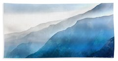 Blue Ridge Mountains Digital Art Hand Towels