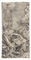 The Body Of Christ Carried By Angels Towards Heaven, 1516  Hand Towel