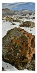 The Book Cliff's Colorful Boulders Hand Towel