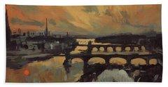 The Bridges Of Maastricht Bath Towel